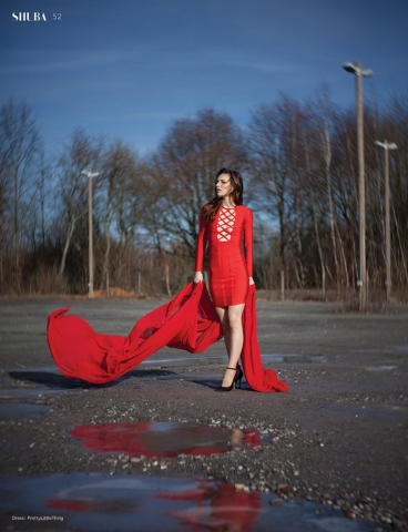 fashion, editorial, mode, design, shuba, magazine, publcation, lensbaby, lensbaby twist60, red, red dress, rot, sexy, schönheit, beauty