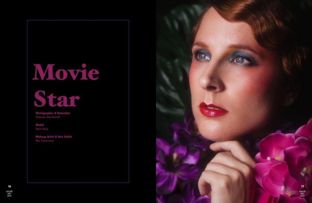 A roaring 20s, Movie Star Shooting with Model Reni Roja and MUA Efa Tziouvara. Photos by Simone Gernhardt, photographed with a Lensbaby Velvet85 Objective.